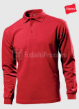 Muzhskie-polo-Hanes-Beefy-Polo-Long-Sleeve-krasnie