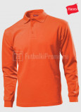 Muzhskie-polo-Hanes-Beefy-Polo-Long-Sleeve-orangevie