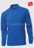 Muzhskie-polo-Hanes-Beefy-Polo-Long-Sleeve-sinie