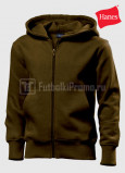 Detskie-tolstovki-Hanes-Junior-Hooded-Jacket-korichnevaya