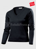 Zhenskie-futbolki-Hanes-Spicy-T-V-neck-Long-Sleeve-chernaya