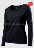 Zhenskie-futbolki-Hanes-TasTy-Long-Sleeve-chernaya