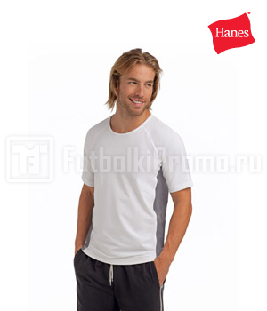 футболки мужские Hanes - Cool-DRI Athletic Track-T (7770)