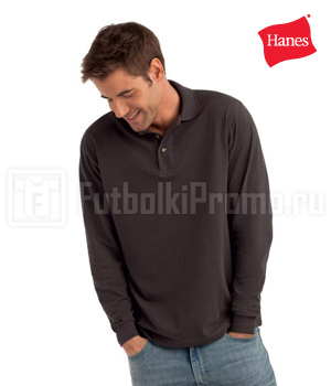 поло мужские Hanes - Top Polo Long Sleeve