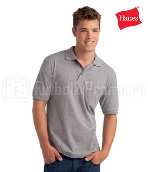 поло мужские Hanes - Top Polo with Pocket